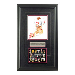 "Heritage Sports Art - Original art of the NCAA 1987 Florida State Seminoles uniform - This beautifully framed NCAA football piece features an original piece of watercolor artwork glass-framed in an attractive two inch wide black resin frame with a double mat. The outer dimensions of the framed piece are approximately 17"" wide x 28"" high, although the exact size will vary according to the size of the original piece of art. At the core of the framed piece is the actual piece of original artwork as painted by the artist on textured 100% rag, water-marked watercolor paper. In many cases the original artwork has handwritten notes in pencil from the artist. Simply put, this is beautiful, one-of-a-kind artwork. The outer mat is a rich textured black acid-free mat with a decorative inset white v-groove, while the inner mat is a complimentary colored acid-free mat reflecting one of the team's primary colors. The image of this framed piece shows the mat color that we use (Maroon). Beneath the artwork is a silver plate with black text describing the original artwork. The text for this piece will read: This is an original, one-of-a-kind watercolor painting of the 1987 Florida State Seminoles uniform worn by #2 Deion Sanders and was used in the creation of this Florida State Seminoles uniform evolution print and thousands of Florida State products that have been sold across North America. This original piece of art was painted by artist Nola McConnan for Maple Leaf Productions Ltd. Beneath the silver plate is a 6.5"" x 7"" reproduction of a uniform evolution print that celebrates the history of the team. The print beautifully illustrates the chronological evolution of the team's uniform and shows you how the original art was used in the creation of this print. If you look closely, you will see that the print features the actual artwork being offered for sale. The 6.5"" x 7"" print is shown above. The piece is framed with an extremely high quality framing glass. We have used this glass style for many years with excellent results. We package every piece very carefully in a double layer of bubble wrap and a rigid double-wall cardboard package to avoid breakage at any point during the shipping process, but if damage does occur, we will gladly repair, replace or refund. Please note that all of our products come with a 90 day 100% satisfaction guarantee. Each framed piece also comes with a two page letter signed by Scott Sillcox describing the history behind the art. If there was an extra-special story about your piece of art, that story will be included in the letter. When you receive your framed piece, you should find the letter lightly attached to the front of the framed piece. If you have any questions, at any time, about the actual artwork or about any of the artist's handwritten notes on the artwork, I would love to tell you about them. After placing your order, please click the ""Contact Seller"" button to message me and I will tell you everything I can about your original piece of art. The artists and I spent well over ten years of our lives creating these pieces of original artwork, and in many cases there are stories I can tell you about your actual piece of artwork that might add an extra element of interest in your one-of-a-kind purchase."