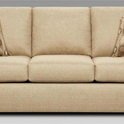 Chelsea Home 82 in Talbot Queen Sleeper Sofa Includes toss pillows and 4 in inner spring