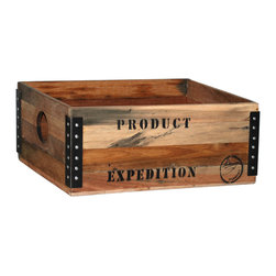 Habitat Home & Garden - Adams Box, Large - The Adams Box is a cool, wooden storage box. Available in two different sizes, this piece will add a funky accent (and extra storage!) to your home.