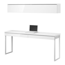 Mikael Warnhammar - BESTÅ BURS Workstation - Workstation, high gloss white