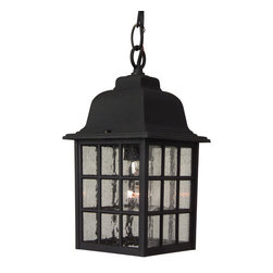 Craftmade - Craftmade Z271 Grid Cage 1 Light Outdoor Pendant - Craftmade 1 Light Outdoor Pendant from the Grid Cage CollectionFeatures: