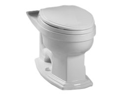 Toto - Toto C784EF#11 Colonial White Eco Clayton Elongated Toilet Bowl, 1.28 GPF - With sleek lines and a beautiful style, the Clayton series gives a simple, yet sophisticated feel to any bath.