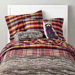 Urban Lumberjack Bedding - For a more campy plaid, these colors add a fun touch to a young child's room. It's perfect for keeping your little one warm throughout the fall and winter.