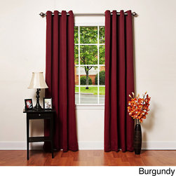 None - Grommet-top Thermal Insulated 120-inch Blackout Curtain Panel Pair - Update your windows with these insulated blackout curtain panels. Ideal if you work a night shift or want to cut down on energy expenses,this set of two grommet-top curtain panels block out sunlight and street lights and come in a variety of colors.