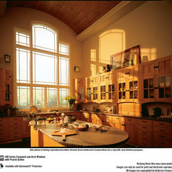 Andersen Windows & Doors - Andersen Fixed Picture Window Units mulled together to create a design feature in this room.