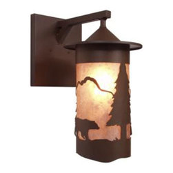 Steel Partners Inc - Wet Sconce - PASADENA BEAR - Wet Location - Every piece we create is unique — handcrafted at our factory in Chehalis, Washington, USA. Due to this, lead times are 2 to 4 weeks.
