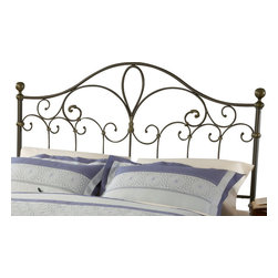 Hillsdale Furniture - Hillsdale Meade Panel Headboard - Full/Queen - Hillsdale Furniture's traditional Meade bed boasts an elegant silhouette, sweeping scrollwork, and delicate castings. Finished in a dynamic silver and gold, this bed is constructed from a sturdy heavy gauge tubular steel. Some assembly required.