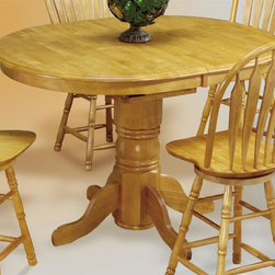 Sunset Trading - 66 in. Eco-friendly Oval Cafe Table - Chair not included. Self storing 18 in. butterfly leaf. Solid handcrafted hardwood. Adjustable feet levelers. Sturdy quality craftsmanship. Warranty: One year. Made from Malaysian oak. Light oak finish. Made in Malaysia. Assembly required. Maximum: 54 in. L x 42 in. W x 30 in. H. Maximum: 66 in. L x 42 in. W x 36 in. H (116.7 lbs.)Welcome  guests into your home with a touch of country comfort with this classic American piece from the Sunset Trading - Sunset Selections Collection. Whether it's casual coffee and conversation, everyday dining, holidays or special occasions, memories are guaranteed to be made when family and friends gather around this versatile dining table. Warm and inviting, the classic beauty and craftsmanship of this dining tables makes it equally appropriate for your kitchen or dining room fulfilling all your formal and informal dining needs. Classic and timeless, and with the memories made, this relaxed dining piece will bring warmth and comfort to your home for years to come.
