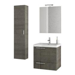 ACF - 23 Inch Grey Oak Bathroom Vanity Set - Set Includes: Vanity Cabinet (2 Doors,1 Drawer).
