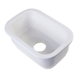 ALFI - ALFI Small Recntangle Fireclay Undermount or Drop In Prep / Bar Sink - This 12inch square undermount fireclay prep sink is designed as the perfect side sink to compliment the fireclay farm sinks. It is made of the same high quality durable fireclay and will have the exact same white color. Now you can enjoy the many benefits of a fireclay sink also as your secondary sink.