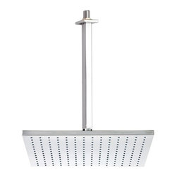Remer - Square Modern Shower Head with Shower Arm - A high-quality complimentary piece.