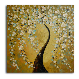 "Shimmering bow Hand Painted Oil Painting - Size: 32"" x 32"""