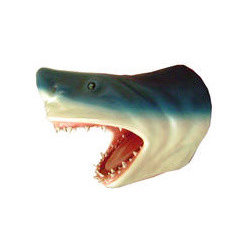 Shark Head Wall Decor - Presenting a life size Shark Head wall decor.  This gorgeous beauty is part of a collection of hand crafted statue replicas. It is sure to be a perfect piece to add to any collection.  This wall mount shark head is used in many establishments and occasions.  It is used as part of home decor, restaurant decor, bar decor, club decor, retails store decor, special events decoration, media room decor, game room decor, hotel decor, commercial businesses decor and as a wonderful gift idea to give to that special one on any special occasion.  It is sure to attract crowd's attention and is a wonderful conversation piece.  This collectible figurine is made from durable materials using cast resin mold mixed with fiberglass.  It is hand painted to the highest detail by professional artisans whose skills have been passed down to them for generations.