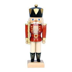 """Alexander Taron - Alexander Taron Christian Ulbricht Nutcracker - Red King - 10.5""""H x 4""""W x 3""""D - This red King is dressed in his traditional regal uniform."""
