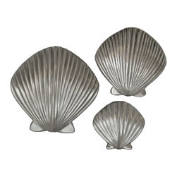 Sea Life Cabinet Knobs by Peter Costello - Scallop Shell Bathroom  cabinet knobs - Scallop Shell Bathroom  cabinet knobs. Designed, Sculpted, and Cast in Pewter by Peter Costello.  Free Shipping in the United States. Finished in Brushed nickel, Chrome or Custom Powder Coat colors.