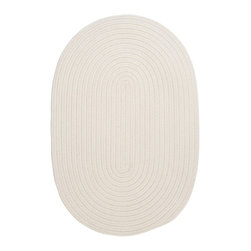 Colonial Mills - Colonial Mills Boca Raton BR10 White Rug BR10R024X036 2x3 - Just pick a coloreany colorethey are all here! This colorful outdoor rug utilizes a simple flat braid construction in an array of colors to put a fashionable stamp on your decor.