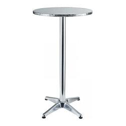 Modway Imports - Modway EEI-548-SLV Elevate Aluminum Bar Table In Silver - Modway EEI-548-SLV Elevate Aluminum Bar Table In Silver