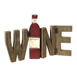 Wine Tabletop Sign with Hinged Letters - *** FREE SHIPPING!! ***