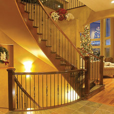 Contemporary Staircase by SPINDLE STAIRS & RAILINGS