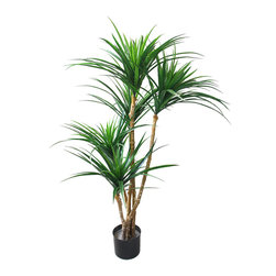 None - Romano 51-inch Indoor/ Outdoor UV Resistant Tropical Yucana Tree - Enhance the home with this Tropical Yucana Tree that features over 200 UV resistant rubber leaves. This wonderful tree keeps its colors when natural trees fade and lose their leaves.