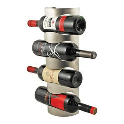 True Frabrication - Vector Wine Rack with Hanging Tag by True Fabrication - Our vector wine rack add organization and sophistication to your wine collection with this 4-bottle wall-mounted wine rack. Fits most standard wine bottles.