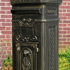 Traditional Mailboxes Ecco Victorian Tower Mailbox in Bronze