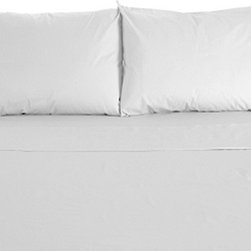 "Mayfield 300 Thread Count Cotton Sheet Set Cot 32"" x 75"", White - Wrap yourself in the softness of our 300 Thread Count Sheet Set. Woven of 100% Cotton, this sheet set is extraordinarily soft and smooth while providing superior durability that will last for years to come."