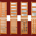 Mid2Mod -- A Trendspotting Guide to Interior and Exterior DOORS - Here is a page shot from the new Mid2Mod brochure showing eight new doors from the Simpson Door Contemporary collection.