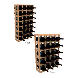Wine Cellar Innovations - Magnum Wine Rack WineMaker Series in Rustic Pine Unstained - 4 Ft - This versatile magnum wine bottle storage wine rack allows for a variety of different-sized bottles to be stored together in the same wine rack. Assembly Required.