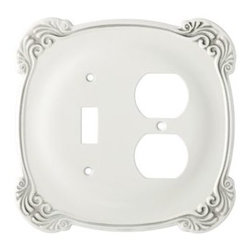 Liberty Hardware - Liberty Hardware 144384 Arboresque WP Collection 5.57 Inch Switch Plate - White - A simple change can make a huge impact on the look and feel of any room. Change out your old wall plates and give any room a brand new feel. Experience the look of a quality Liberty Hardware wall plate. Width - 5.57 Inch, Height - 5.41 Inch, Projection - 0.24 Inch, Finish - White Antique, Weight - 0.46 Lbs.