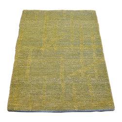 1800-Get-A-Rug - Modern Nepali Mat Hand Knotted Rug Light Green Sh7445 - About Modern & Contemporary