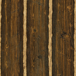 Brewster - Franklin Brown Rustic Pine Wood Wallpaper - This woodsy paper brings wow to your walls and rustic appeal to your decor. Plus, it's pre-pasted for easy application and durable enough to scrub.