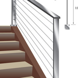 The Cable Connection - Cable Railing Kits for Metal Posts - 500-M SERIES - Cable railing kits from 5' to 50'. Inside-of-post to inside-of-post mount - stairs.
