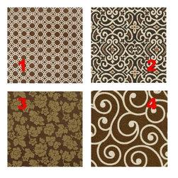 Custom Lampshade - Vanity - Cafe Mocha- Lampshade - Fabric Collection -
