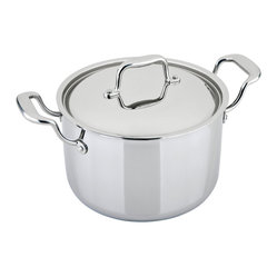 Engel-Riviere - All-Ply 7.5-Quart Stockpot - This uniquely constructed stock pot's combo of copper, aluminum and stainless steel provides even heat distribution and superior temperature control. You'll be stirring up soups, stews and more like never before.