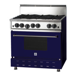 "36"" BlueStar Range in Night Blue (RAL 5022) - RAL 5022"