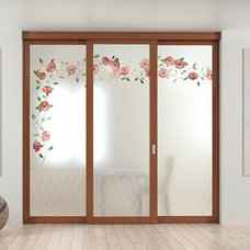 GLASS SLIDING DOOR WITH FIXED LATERAL WINGS ARIANNA ELEGANCE COLLECTION BY FOA