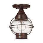 Hinkley Lighting - Transitional 1 Light Outdoor Ceiling FixtureCape Cod Collection - Hinkley Lighting's mission is simple: to bring you cool classics that suit the way you live today.