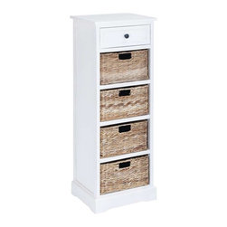 Benzara - Basket Cabinet Combination of Functionality and Design - Basket Cabinet Combination of Functionality and Design