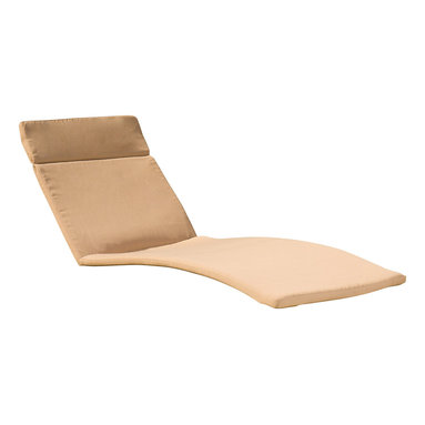 Great Deal Furniture - Set of 2 Cushion Pads For Outdoor Chaise Lounge Chairs, Caramel - Made of water-resistant fabric designed to withstand the elements, these cushions are designed to perfectly fit our adjustable outdoor chaise lounge chairs. (Chaise lounge chairs are not included)
