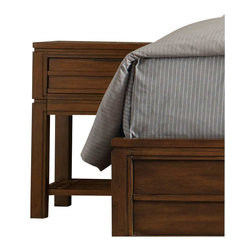 Hooker Furniture - Hooker Furniture Chatham One Drawer Leg Nightstand - Hooker Furniture - Nightstands - 104391116 - Horizontal lines and molding and straight cases give a modern yet down-to-earth feel to Chatham.