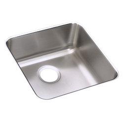 Elkay - Elkay Gourmet Lustertone Undermount Sink, Stainless Steel (ELU1616) - Elkay ELU1616 Gourmet Lustertone Undermount Sink, Stainless Steel