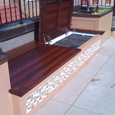 Modern Patio by North Star Carpentry