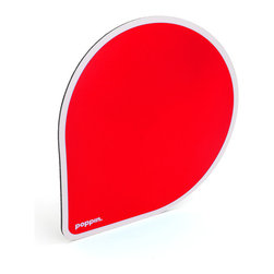 Poppin - Mousepad, Red - Provide a squeak-free experience for your mouse.