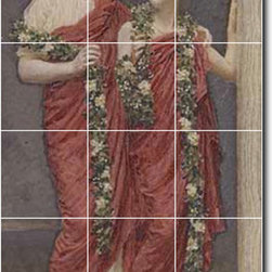 Picture-Tiles, LLC - A Garland Tile Mural By Albert Moore - * MURAL SIZE: 36x18 inch tile mural using (18) 6x6 ceramic tiles-satin finish.