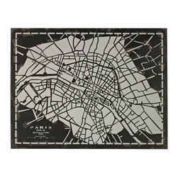 Sterling Industries - City Map Laser Cut Map of Paris Circa 1790 - City Map-Laser Cut Map of Paris Circa 1790 by Sterling Industries