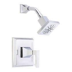 """Danze - Danze Logan Square Trim Only Single Handle Pressure Balance Shower Faucet - Chro - Features Square Showerhead D460050 All brass 6"""" shower arm Valve not included, must order separately View Spec Sheet"""