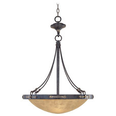 """Traditional Chandeliers Austin Weathered Saddle 21 1/4"""" Wide Chandelier"""