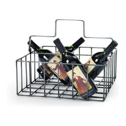 Milk Money Basket - You'll be impressed with how much you can carry in this cool, vintage-inspired steel wire basket. Taking a style cue from milkmen's baskets, it's a nifty organizational tool with space to spare.