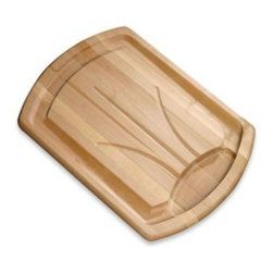 "J.k. Adams - Traditional Carver Wood Cutting Board - The Traditional Carver cutting board is a meat-lover's dream. This board's ""well and tree"" grooved pattern directs juices from your sliced meat into a larger well for use in various sauces and gravies."